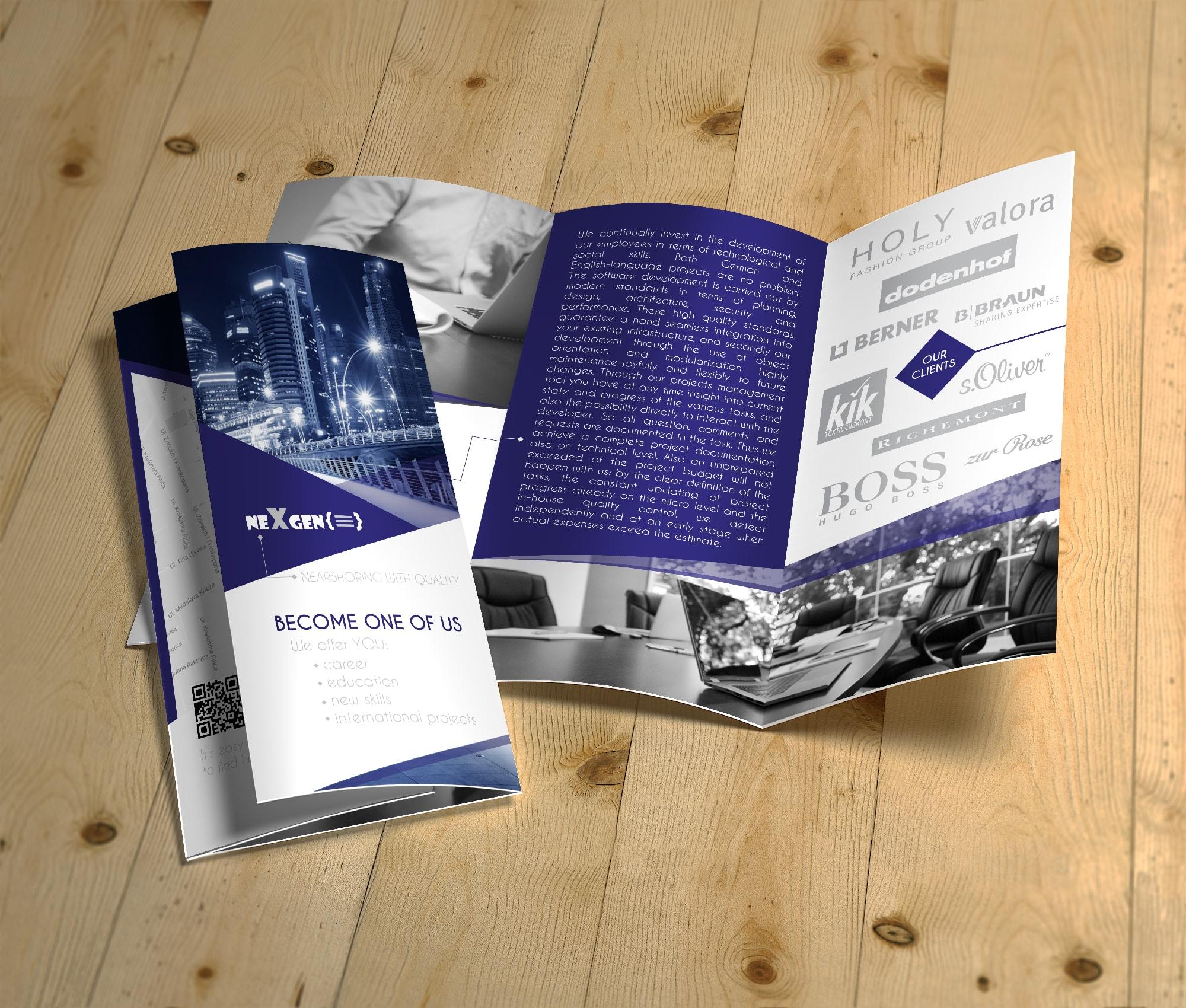 graficki dizajn brošura varazdin